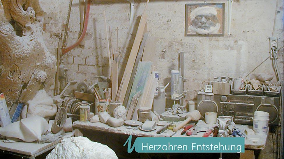 Ulrich Neuhaus Schmuck Skulptur - Herzohren Entstehung